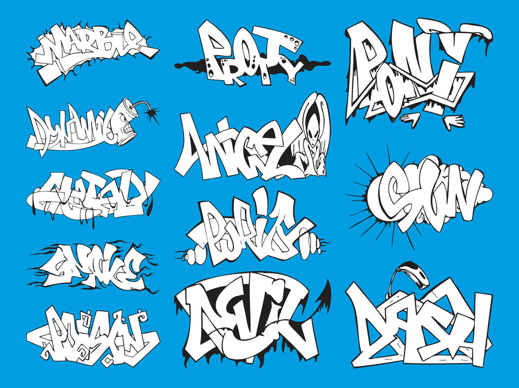Graffiti Graphics Set