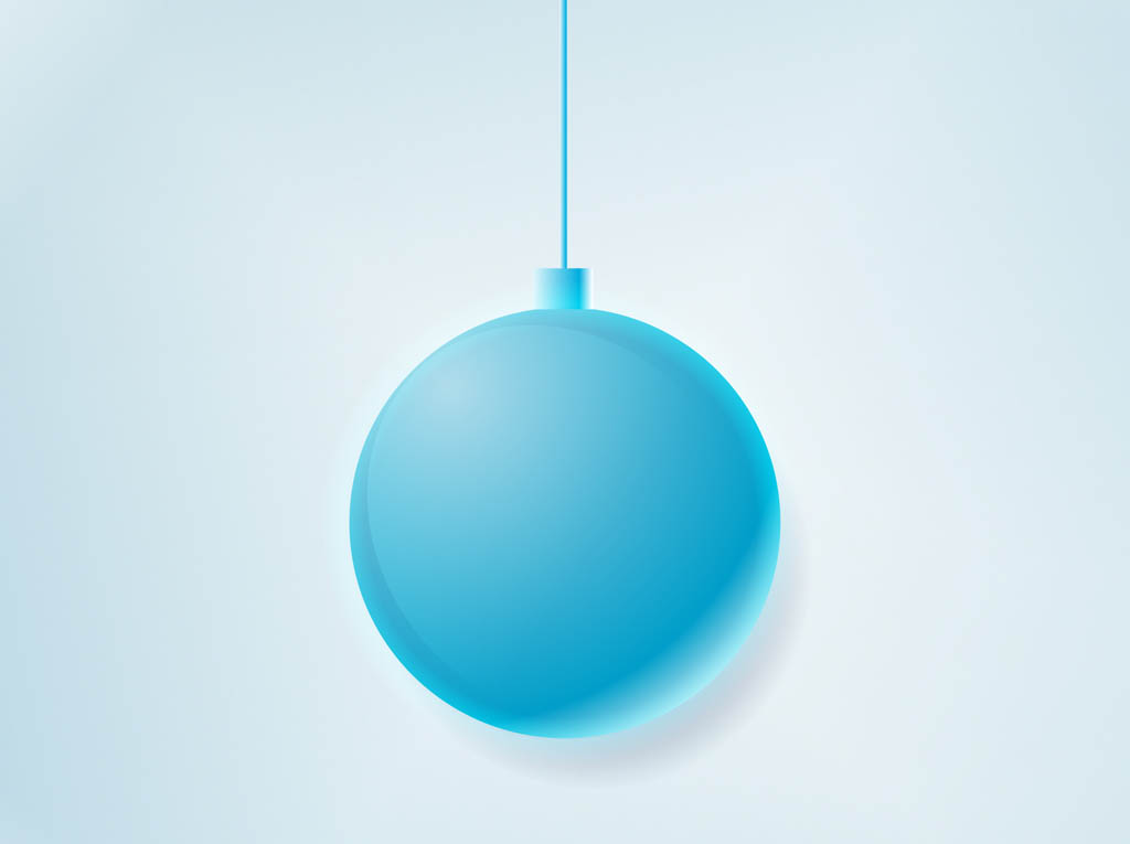Christmas Ball Ornament Vector