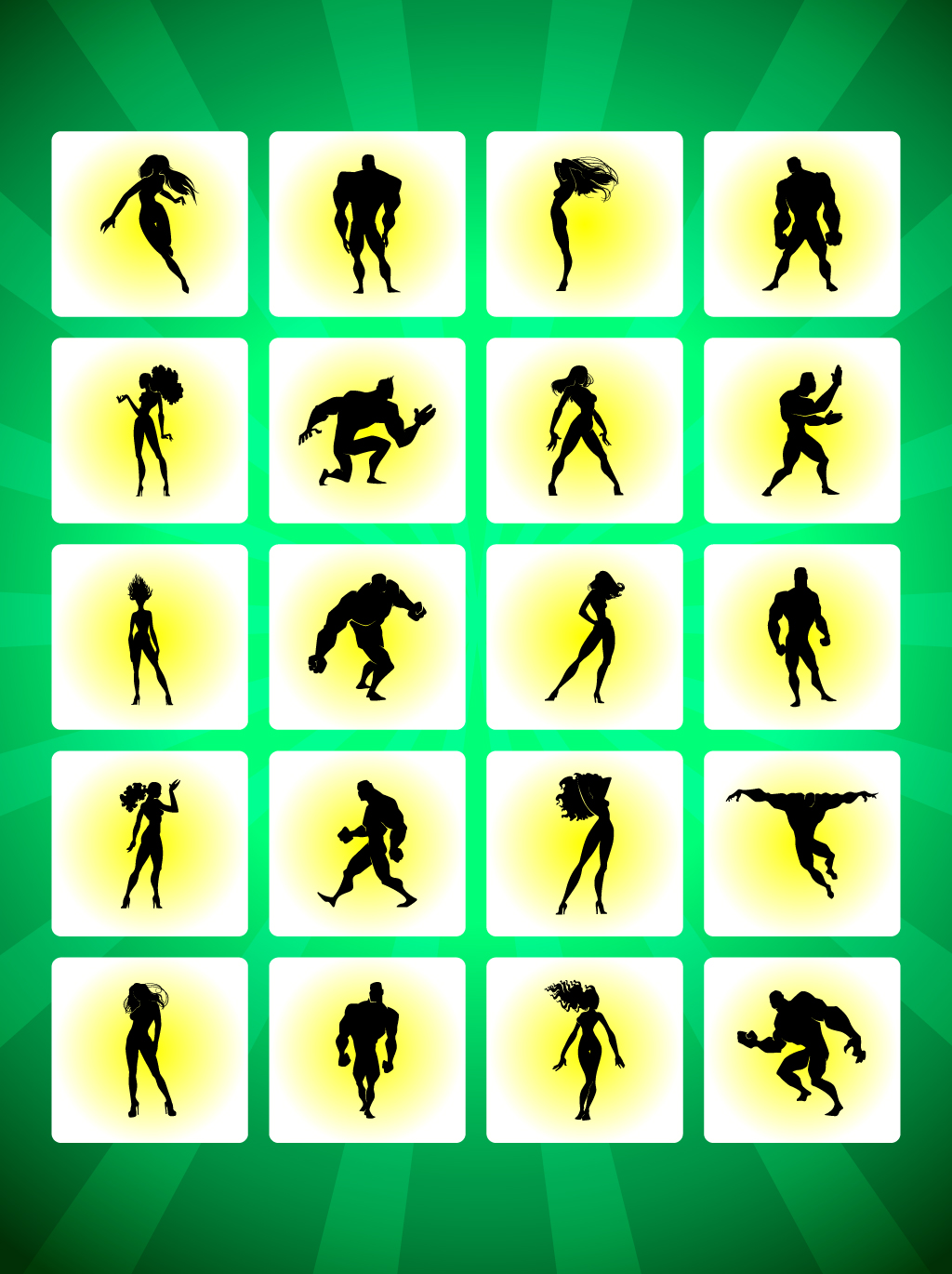 Heroes Silhouettes