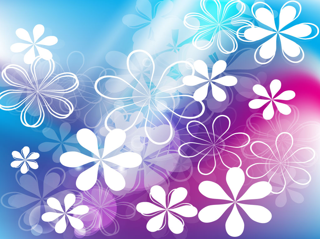 cute flowers vector background vector art graphics