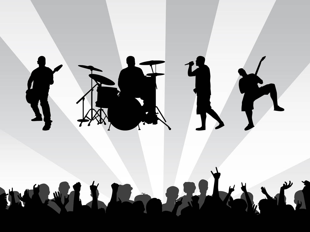 band concert background vector art amp graphics freevectorcom