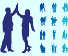 People In Couples Silhouettes Graphics