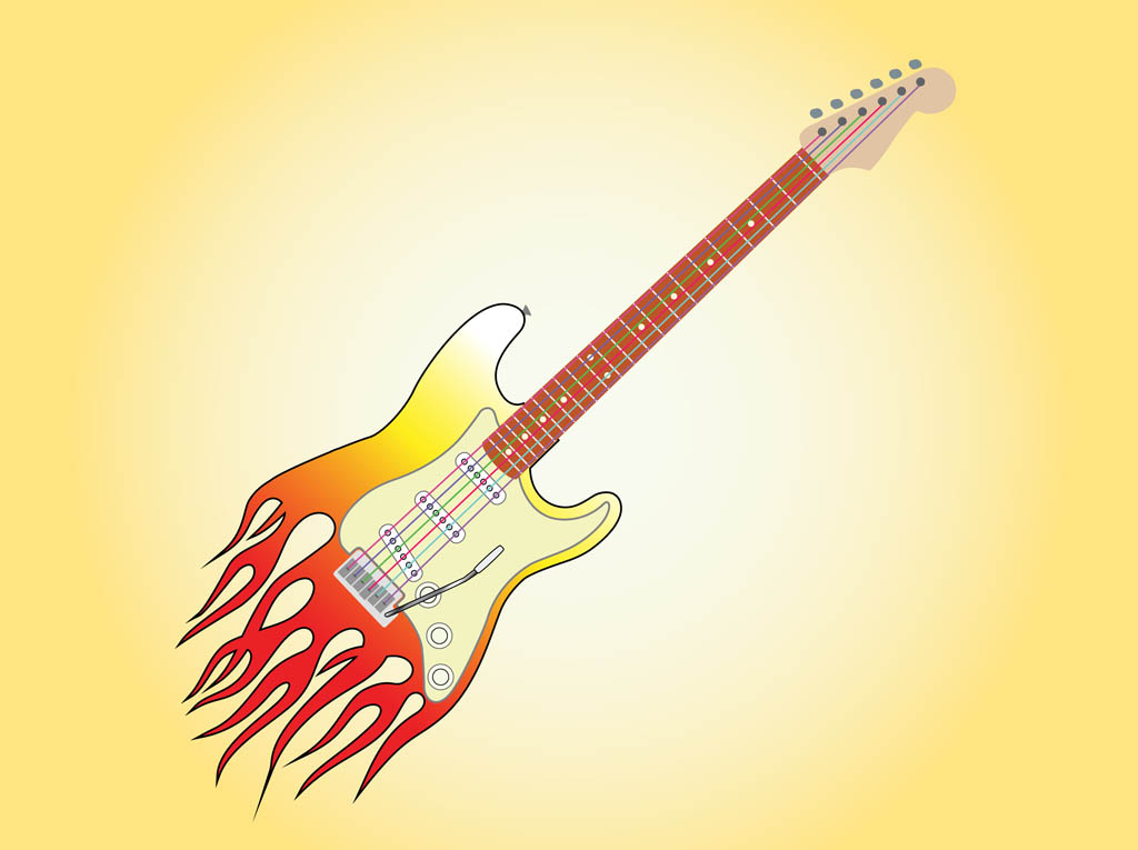 Burning Guitar Graphics
