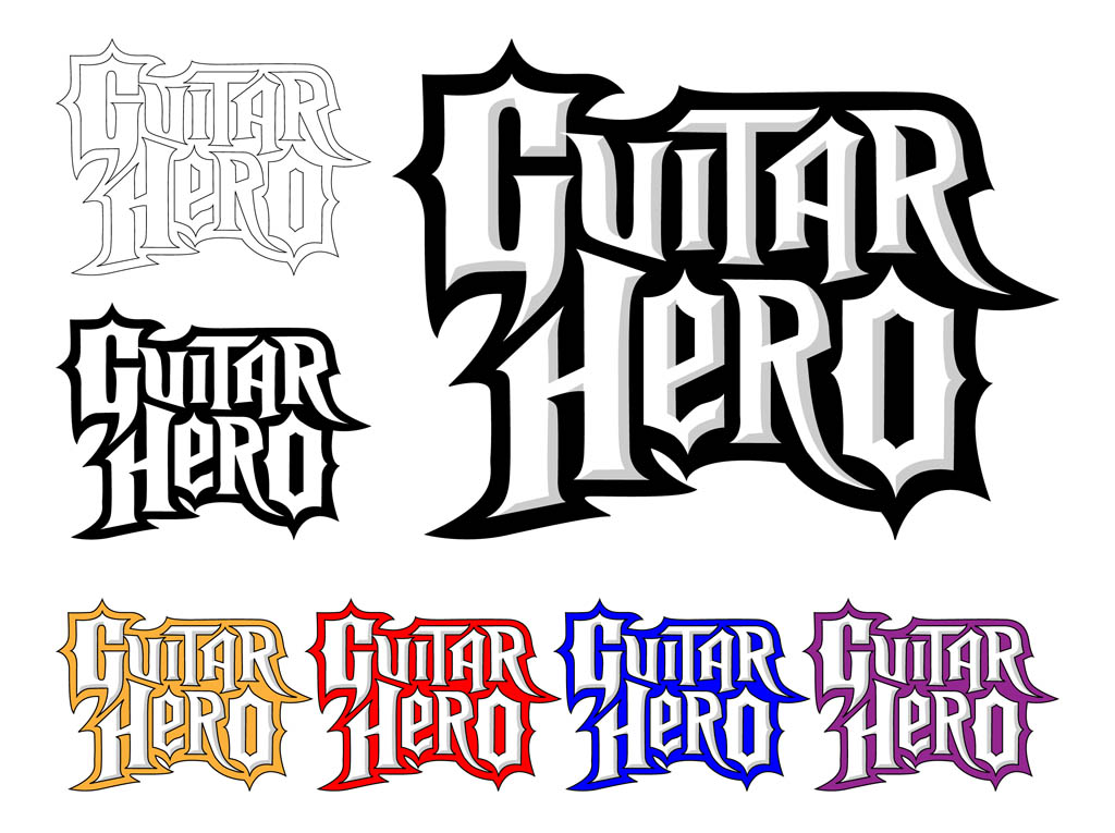 Guitar Hero Logo Set
