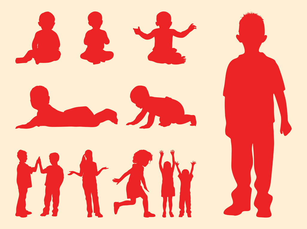 Kids And Babies Silhouettes
