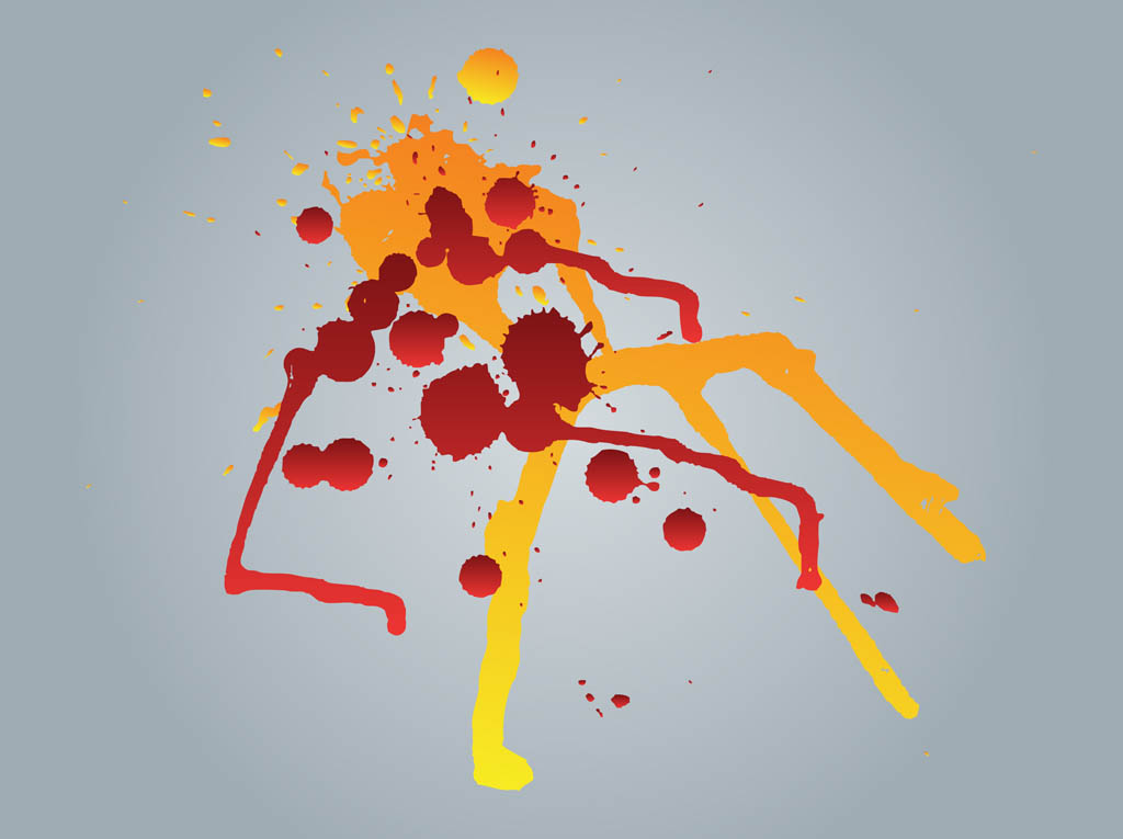 Splattered Paint Vector