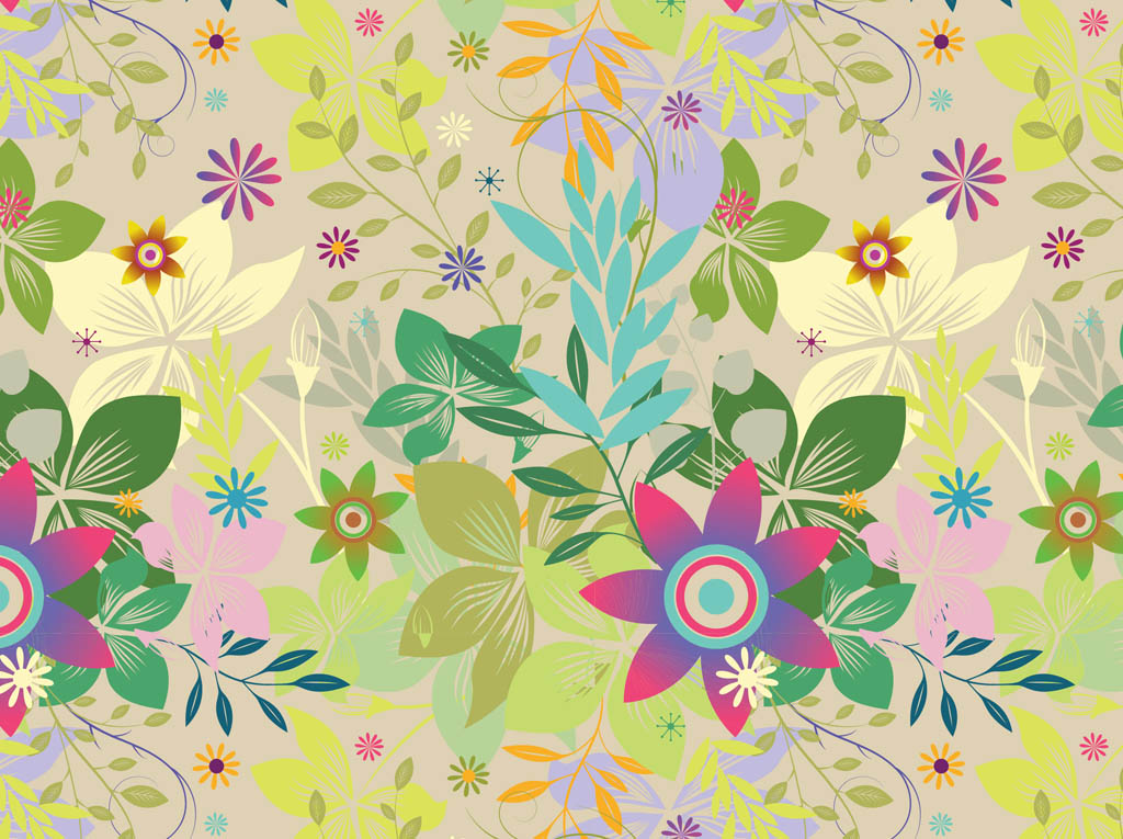 Exotic Flowers Vector