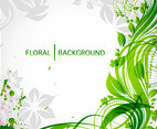 Green Swirly Background Vector