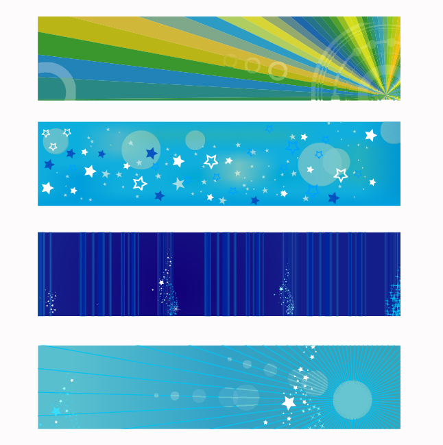 Fun Blue Banner Vectors