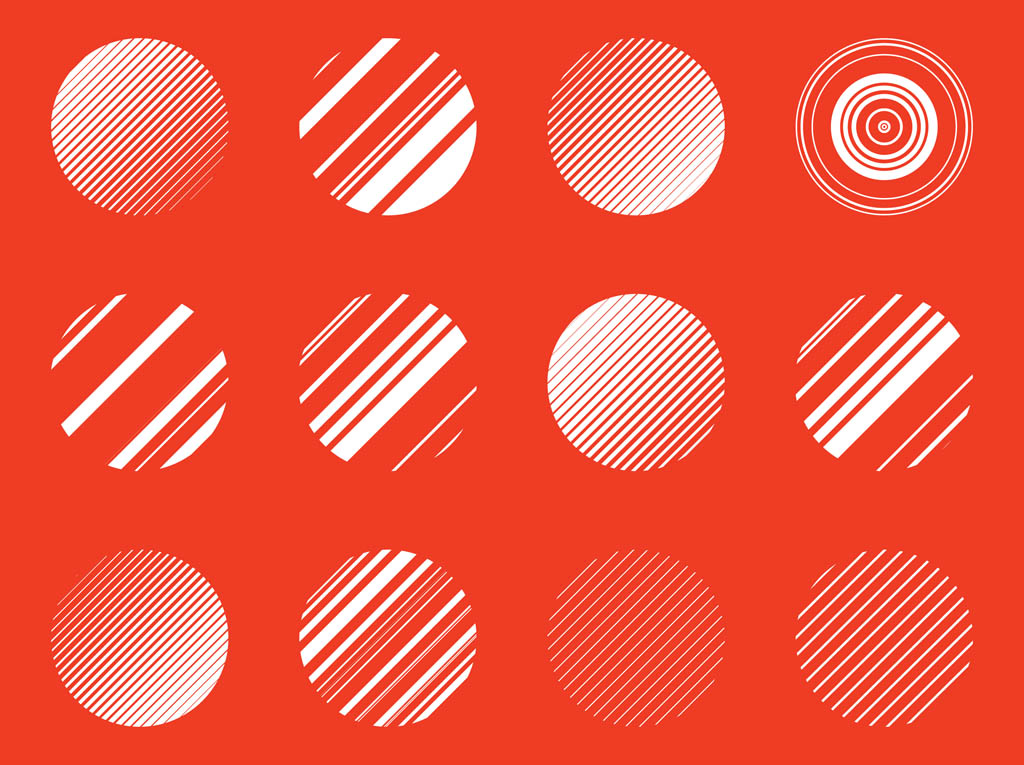 Abstract Circles Vectors