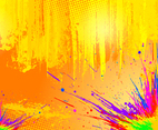 Color Splash Vector Background