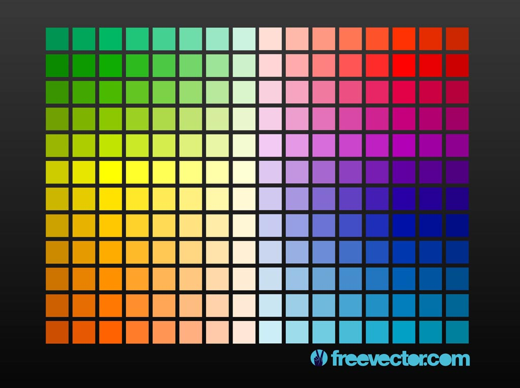 Color grid vector art graphics for Architecture 9 square grid