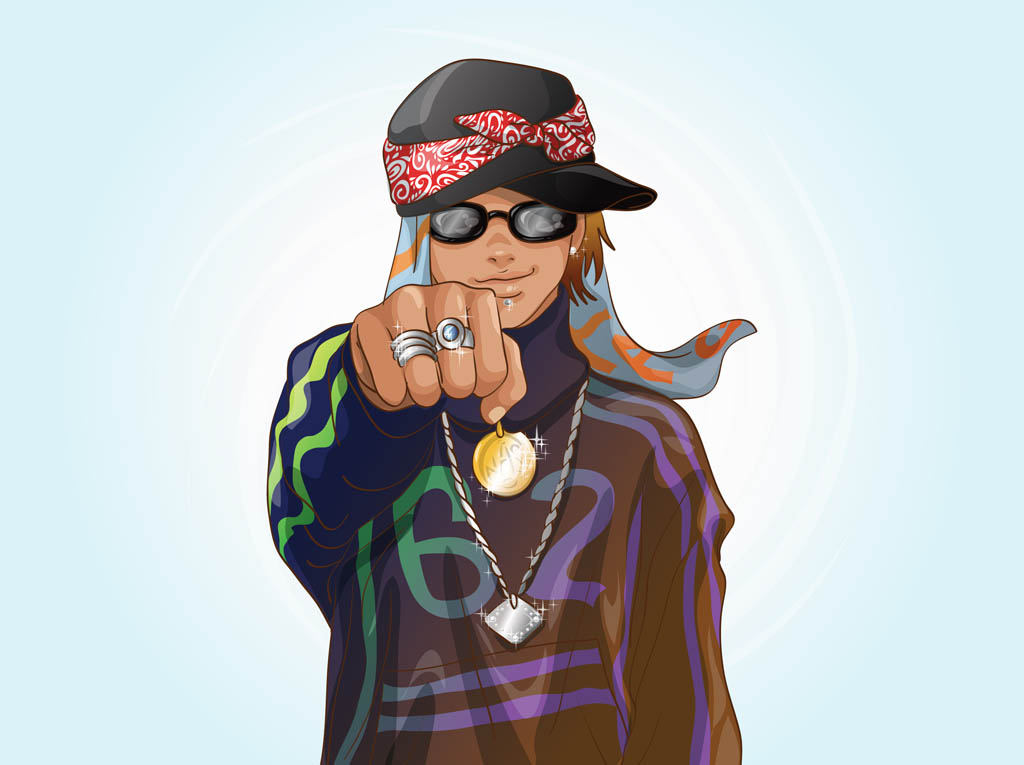rapper vector art & graphics | freevector.com  free vector