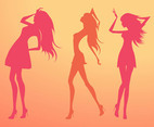 Silhouette Vector Girls
