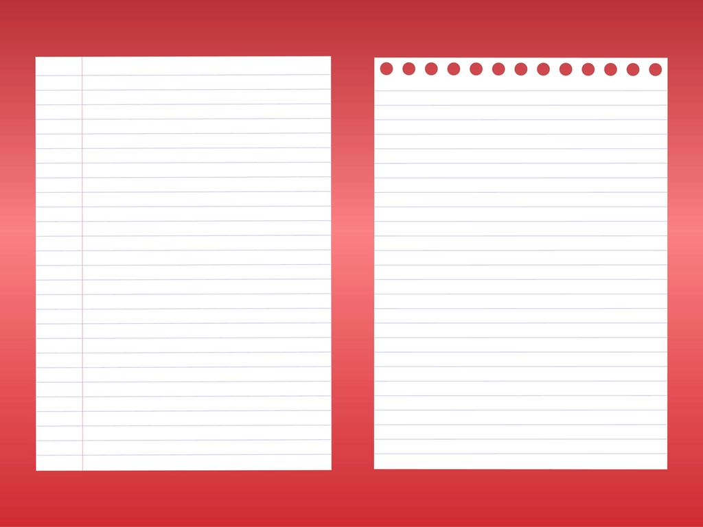 notebook sheets vector art & graphics | freevector