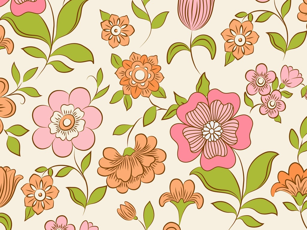Retro pattern flower