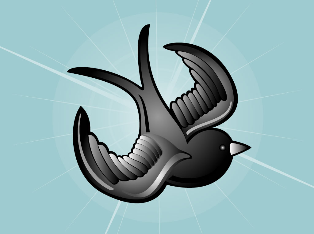 Tattoo Bird Vector Image