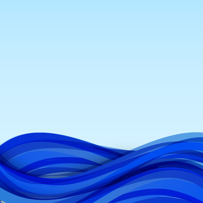 Abstract Ocean Waves Vector