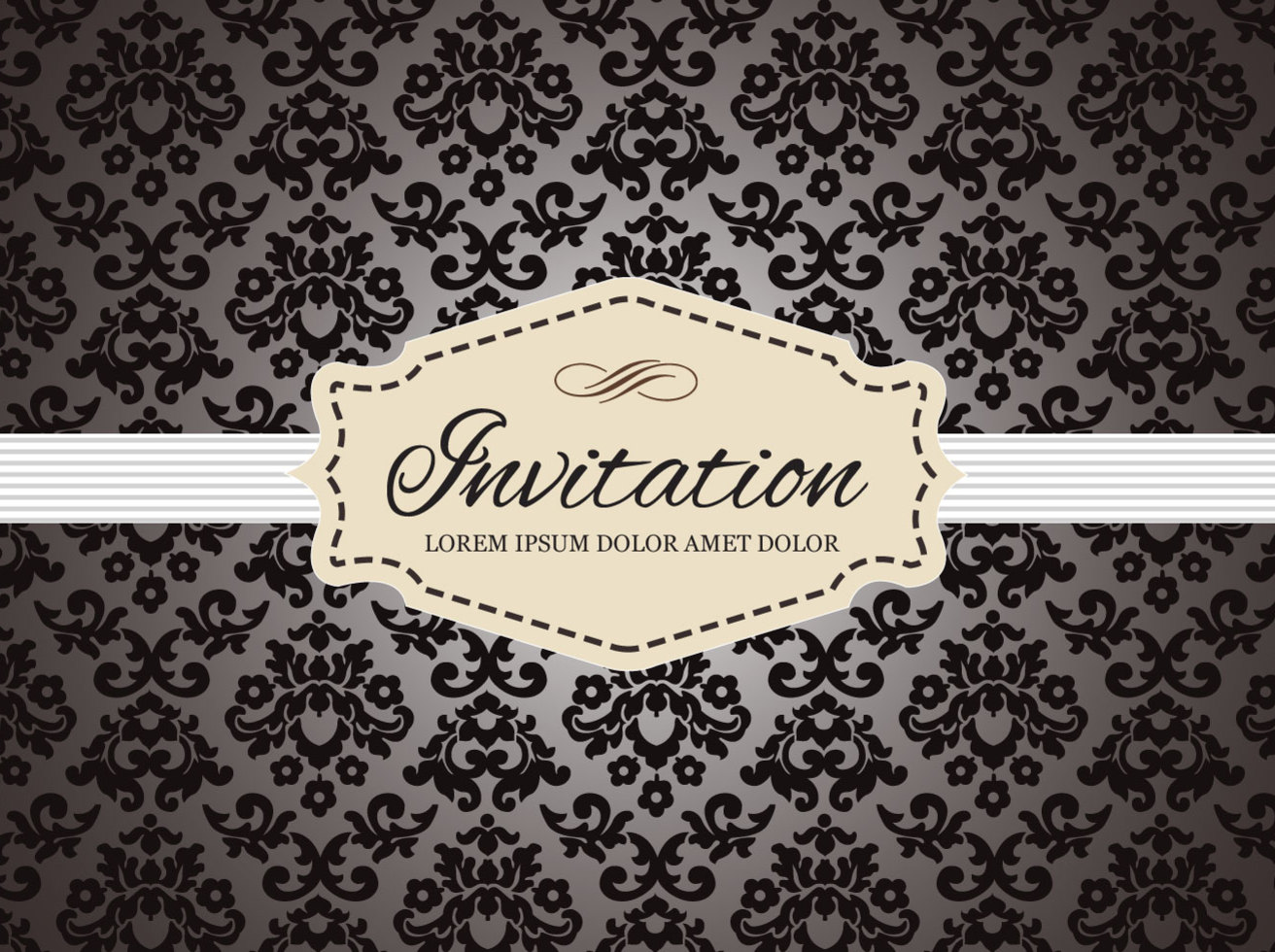 Free Vintage Invitation Card Vector Vector Art Graphics
