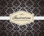 Free Vintage Invitation Card Vector