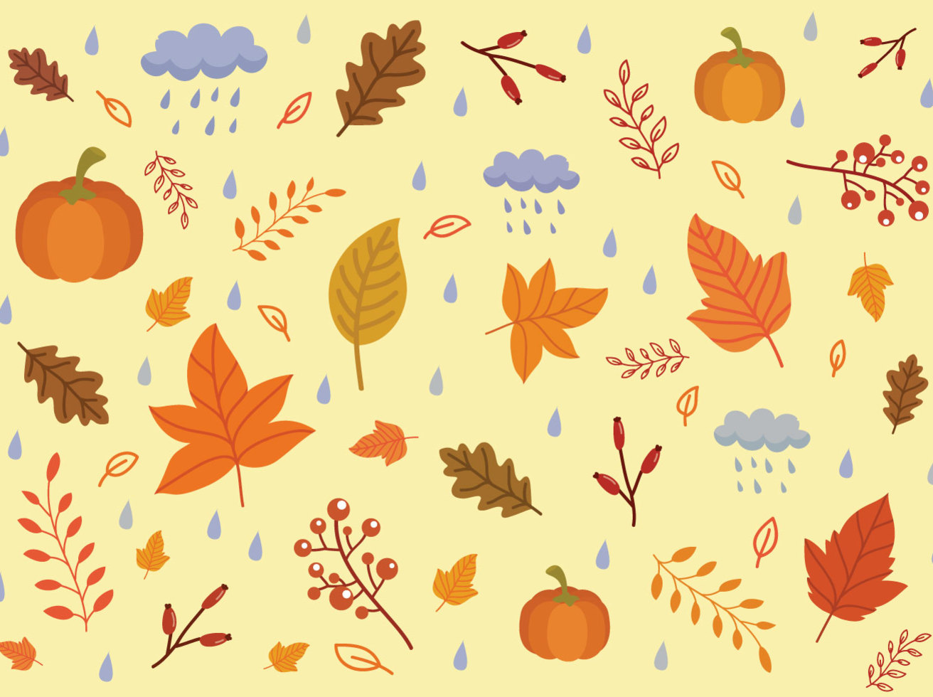 Free Autumn Background Vectors