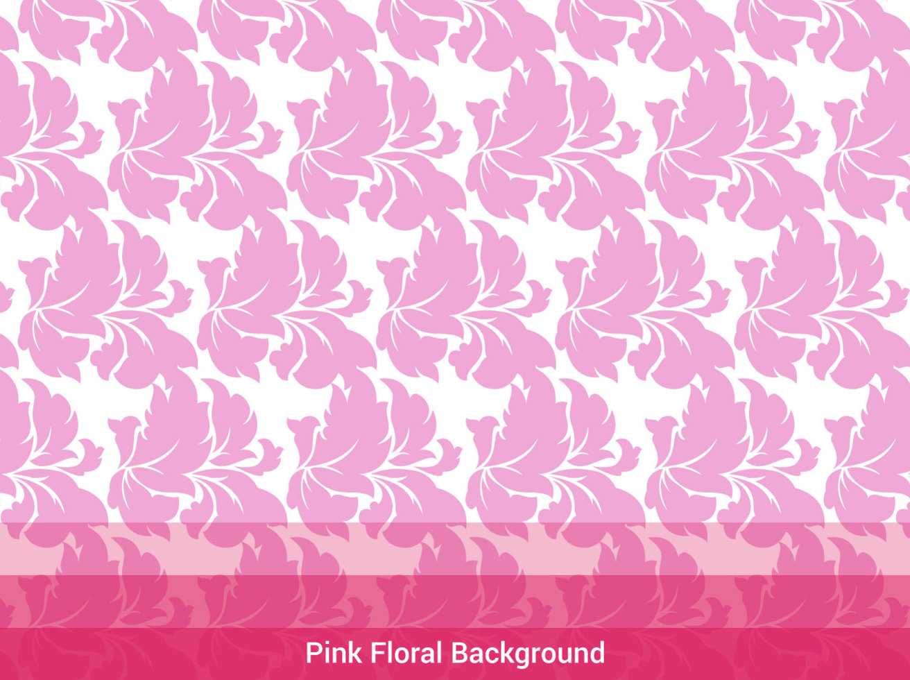 Free Pink Floral Background Vector