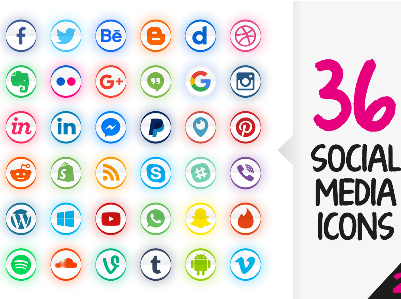 69d9b4fdc5 Social Media Icons Pack Free Vector Art   Graphics