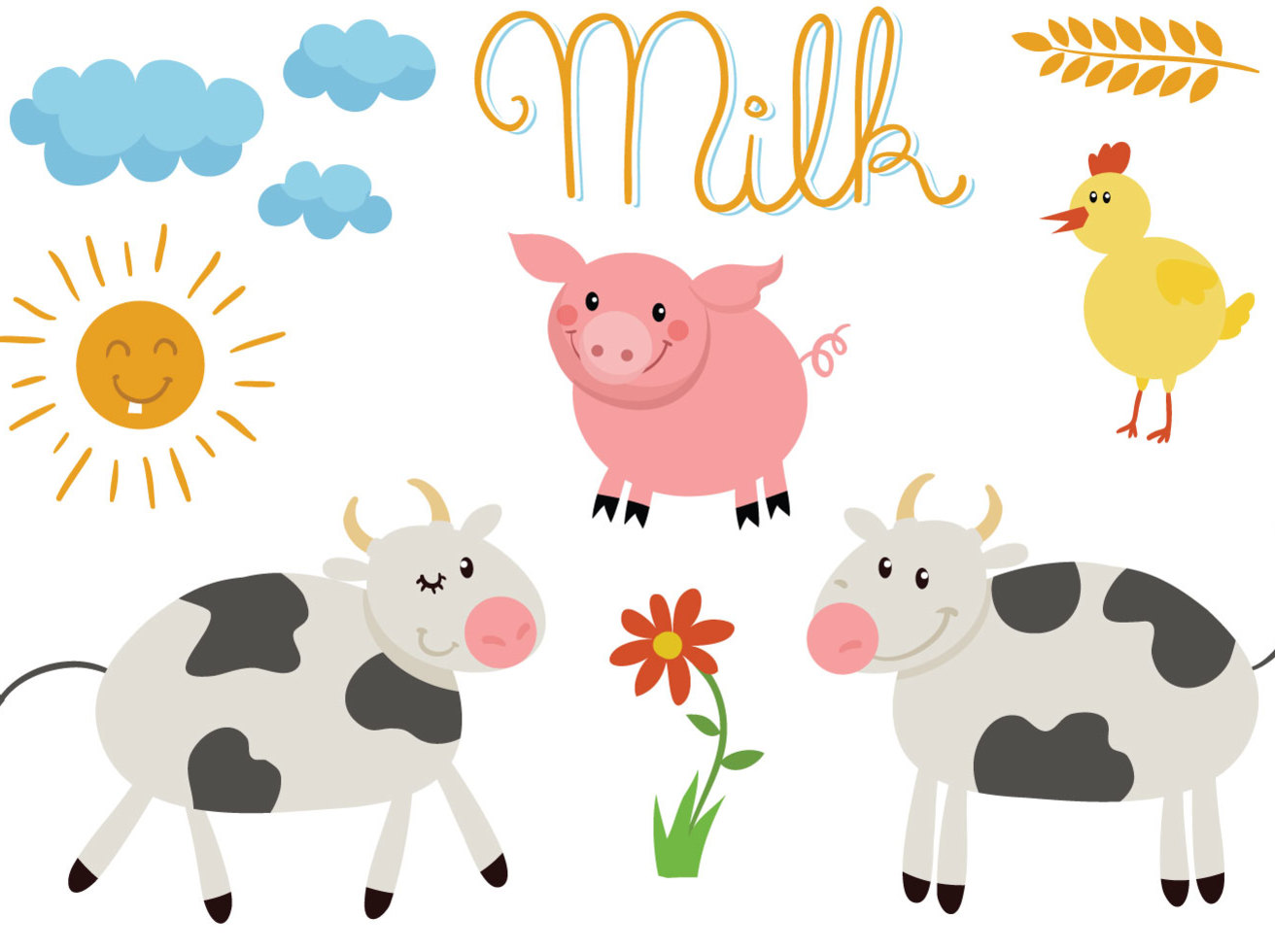 Free Farm Animals Vectors