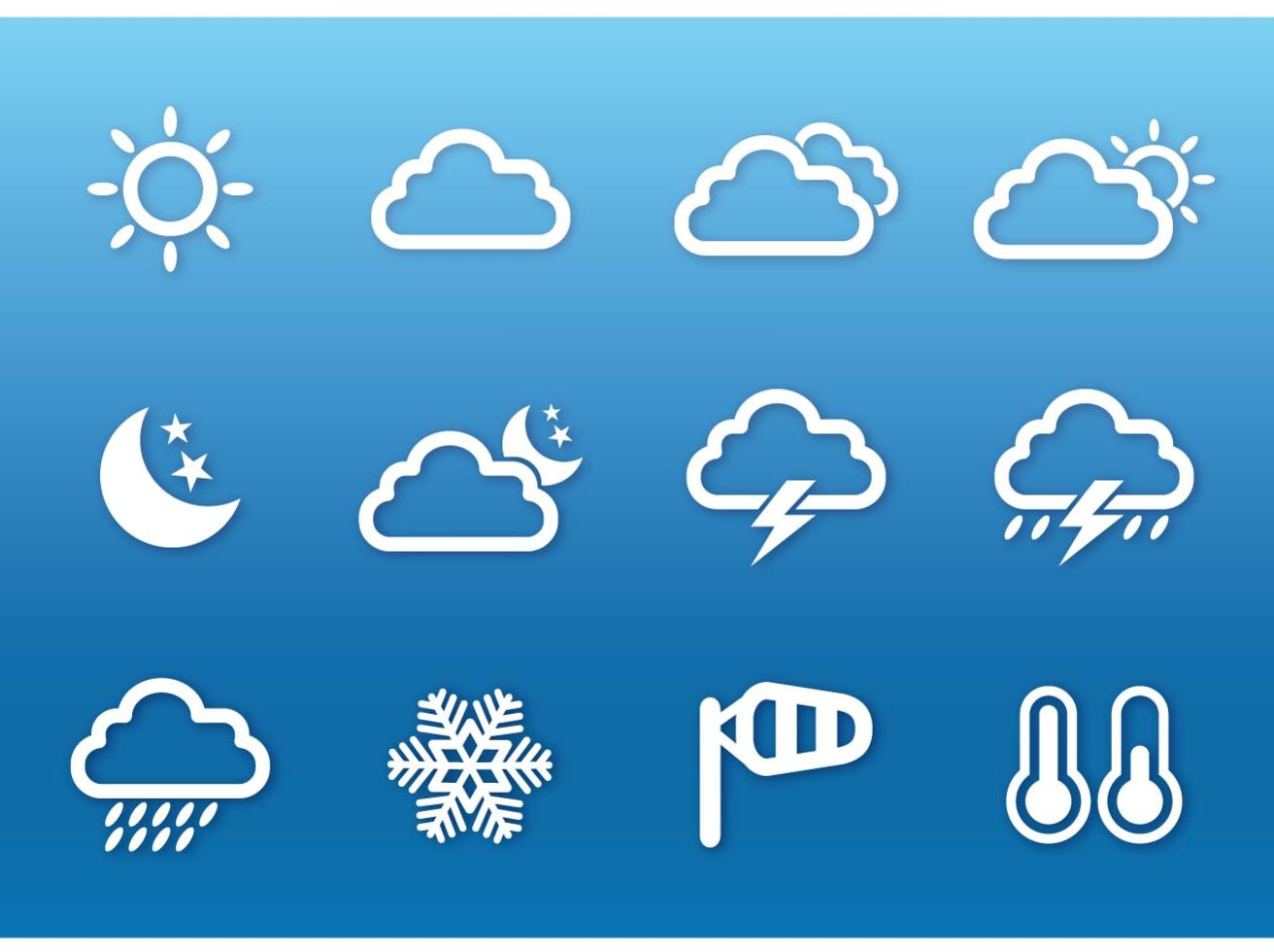Weather Flat Icon Vector