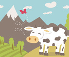 Cartoon Cow Free Vector