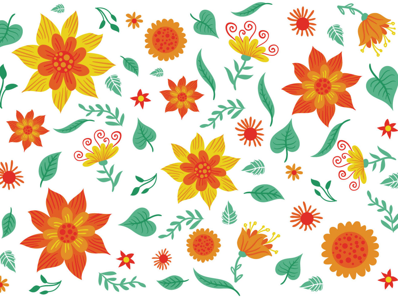 Free Floral Background 2 Vectors