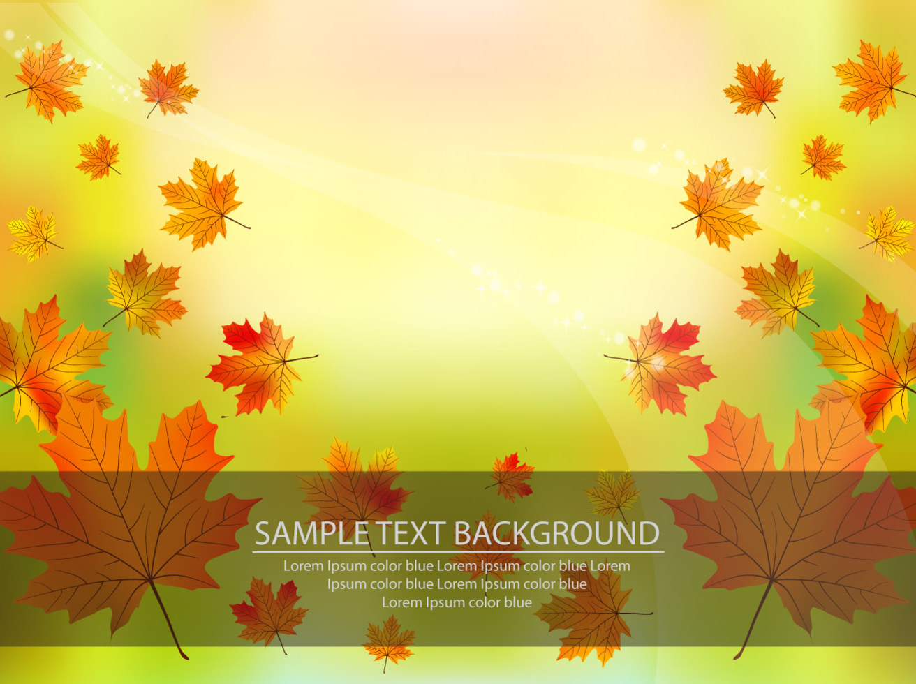 Vector Fall Background with Leaves