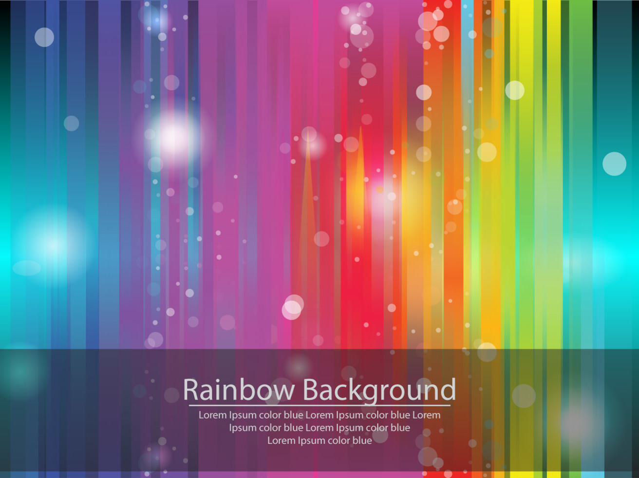 Rainbow Abstract Background Vector