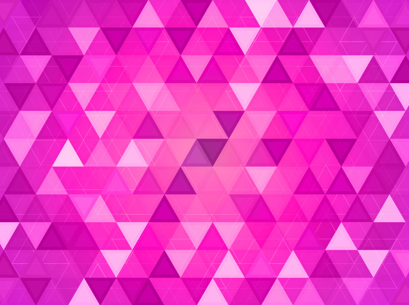 Pink Triangles Geometric Background Vector