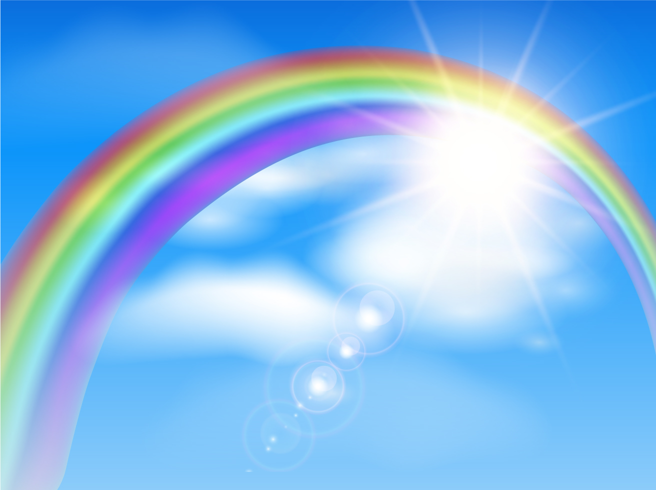 Beautiful Rainbow Background Illustration Vector Art ...