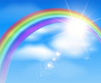 Beautiful Rainbow Background Illustration