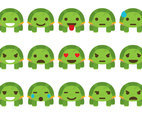 Cartoon Turtles Emoticon Vectors