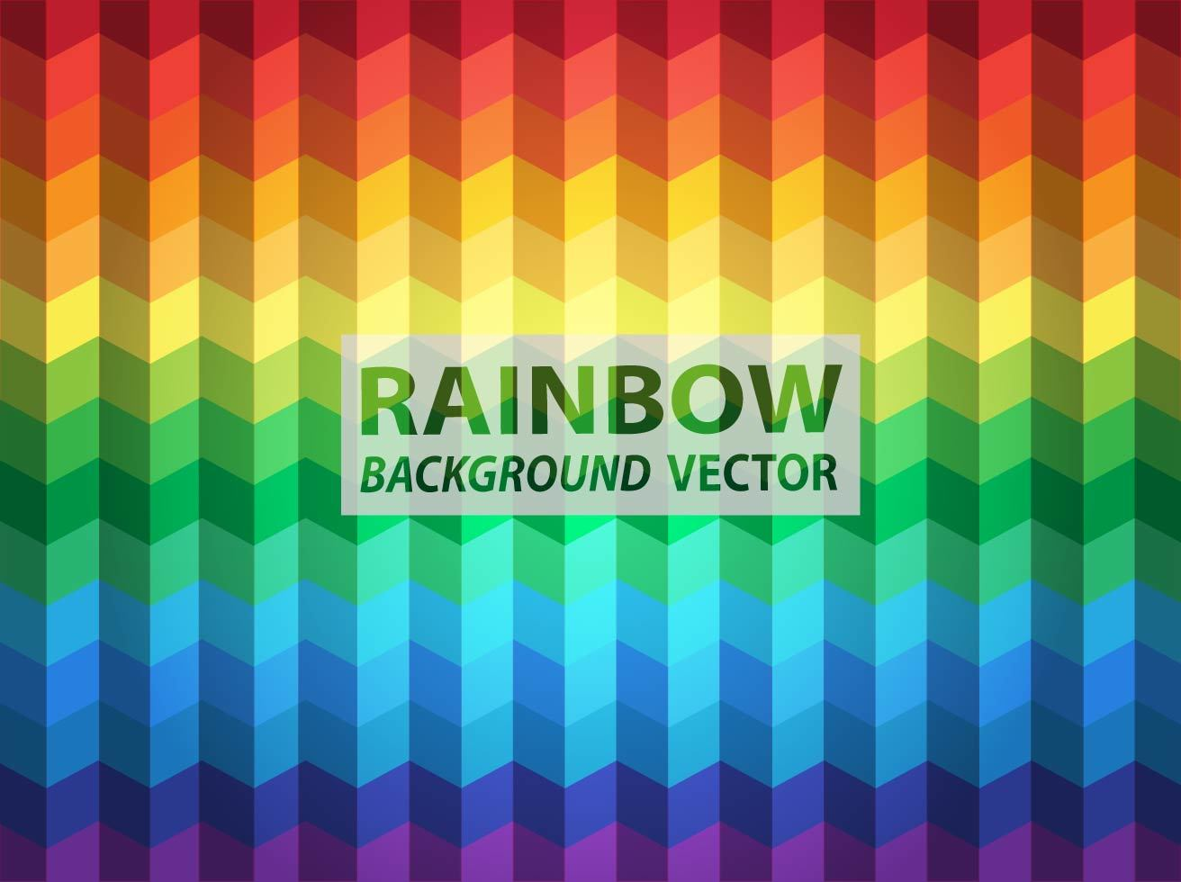 Rainbow Geometric Background Vector