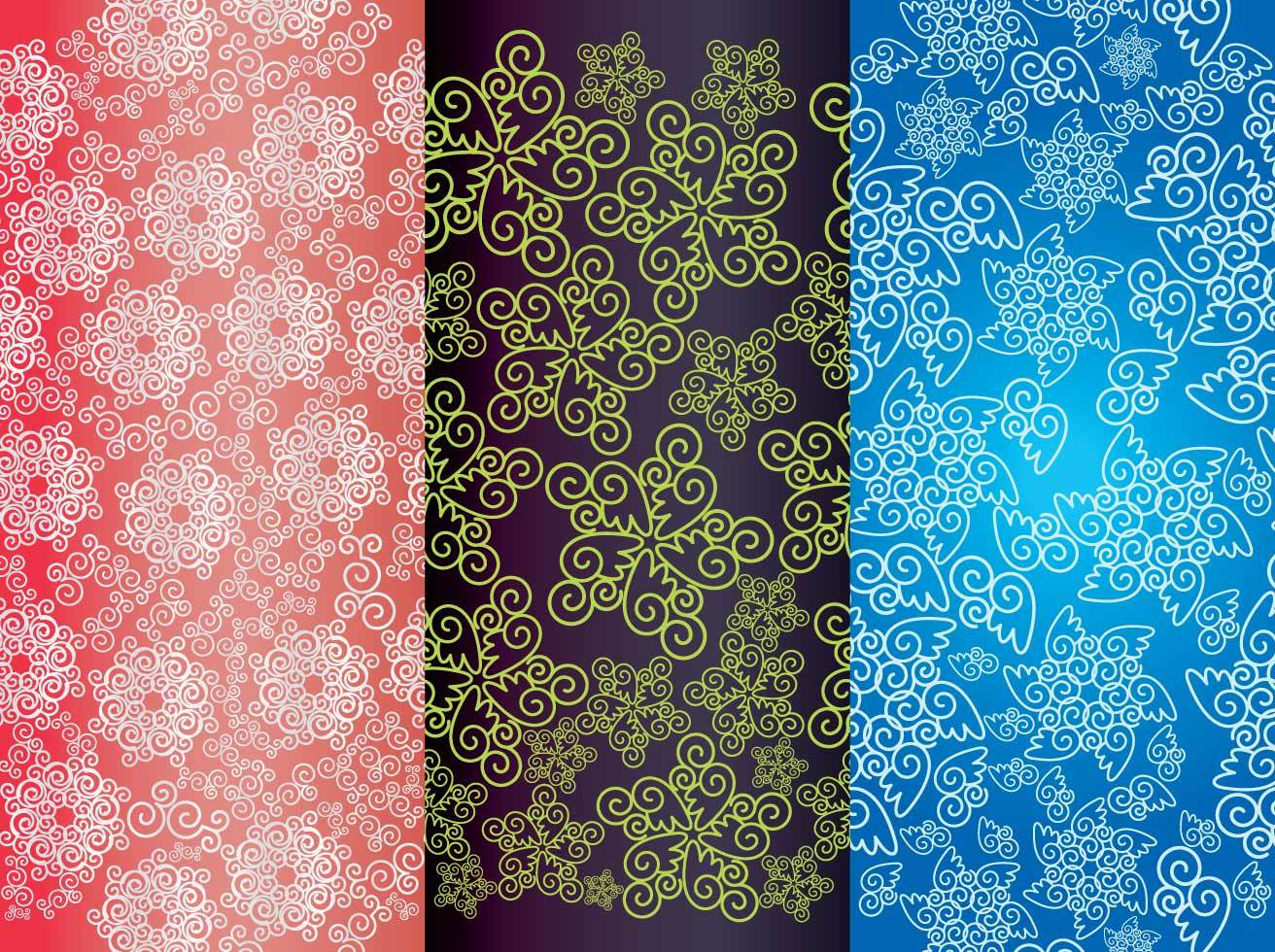 Pattern Spiral Background Vectors