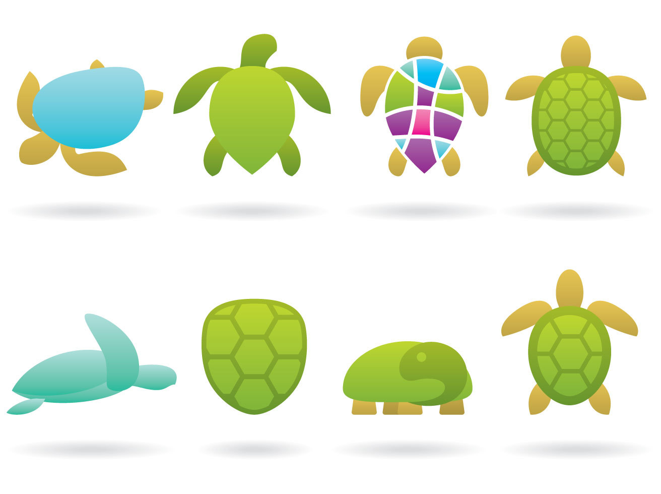 Turtle Logo Vectors