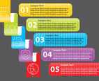 Ribbon Infography Vectors
