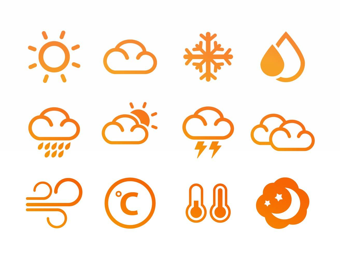 Weather Forecast Flat Icon