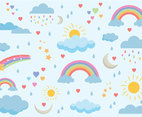 Free Rainbow Background Vectors