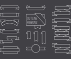 Free Vector Outline Ribbon Set