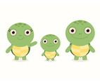 Free Vector Cartoon Turtle Set