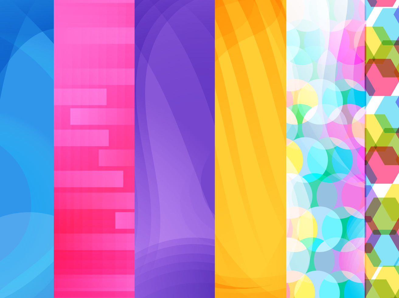 Rainbow Background Vector Set