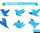 Twitter Bird Free Vector Pack