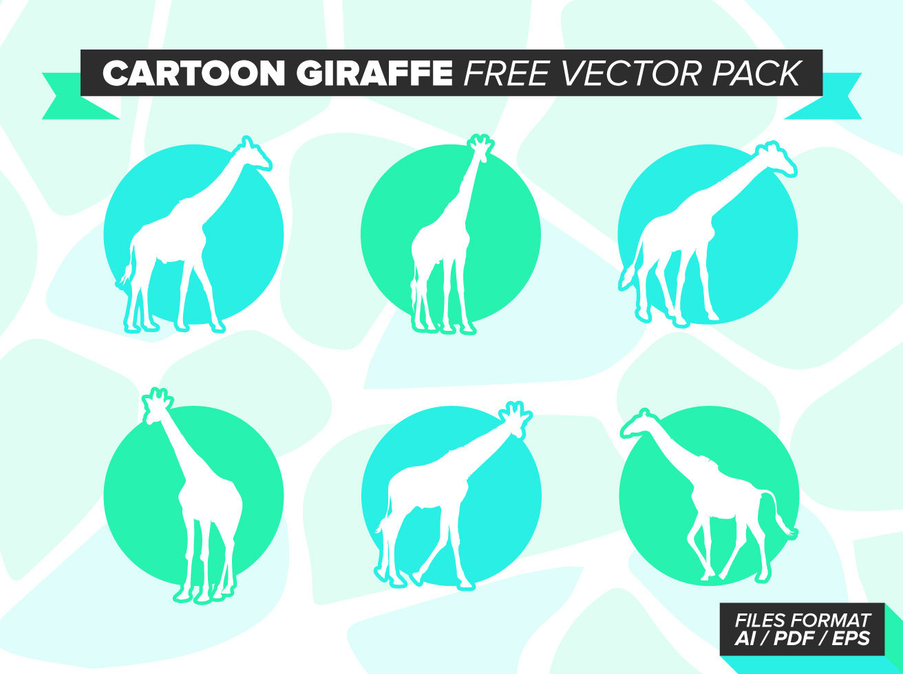 Cartoon Giraffe Free Vector Pack