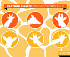 Cartoon Giraffe Free Vector Pack Vol. 2