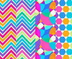 Rainbow Background Geometric Pattern Set